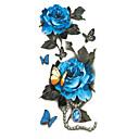 abordables Tatuajes Temporales-Tatuajes Adhesivos Los tatuajes temporales Art Deco / Retro Impermeable / 3D Artes de cuerpo Rostro / manos / brazo