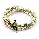 billige Herre Armbånd-Herre Dame Charm-armbånd - Unikt design, Mode Armbånd Mørkeblå / Brun / Blå Til Bryllup Fest Daglig