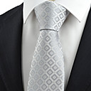 cheap Totes-Men's Party Work Basic Cotton Rayon Polyester Necktie - Check