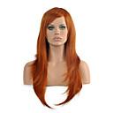 abordables Pelucas para Disfraz-Pelucas sintéticas / Pelucas de Broma Recto Pelo sintético Rojo Peluca Mujer Media Sin Tapa