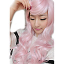 cheap Hair Accessories-Synthetic Wig Women's Wavy Synthetic Hair Wig Capless Pink