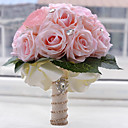 """cheap Quilts & Coverlets-Wedding Flowers Bouquets Wedding Party / Evening Rhinestone Polyester Satin Foam 10.63""""(Approx.27cm)"""