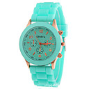 cheap Fashion Watches-Women's Wrist Watch Silicone Black / White / Blue Chronograph Analog Ladies Sparkle Fashion - Red Green Pink One Year Battery Life