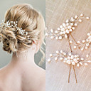 cheap Wedding Gifts-Pearl Crystal Hair Combs Hair Stick 1 Wedding Special Occasion Headpiece
