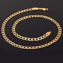 preiswerte Modische Halsketten-Damen Figaro Kette Klobig Ketten / Statement Ketten - vergoldet Modisch Silber, Golden, Rotgold Modische Halsketten Schmuck Für Weihnachts Geschenke, Hochzeit, Party