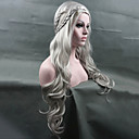 cheap Synthetic Capless Wigs-cosplay wig new arrival game of thrones daenerys inspired hair cosplay hair wigs silver