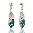 cheap Men's Accessories-Crystal Drop Earrings - Princess Black / Green / Blue For