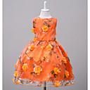 זול שמלות לבנות-שמלה פוליאסטר קיץ ללא שרוולים סוף שבוע ליציאה פרחוני הילדה של פרחוני כתום ורוד