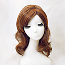 cheap Human Hair Capless Wigs-natural light brown straight short hair wigs with side bang