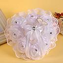 hesapli Düğün Mendilleri-Beyaz 1 Kurdeleler Kristal Şifon