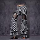 hesapli Göbek Dansı Giysileri-Göbek Dansı Alt Giyimler Kadın's Performans Pamuklu Fırfırlı Kolsuz Düşük Pantalonlar