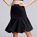 abordables Ropa para Baile Latino-Baile Latino Pantalones y Faldas Mujer Rendimiento Rayón Fruncido Sin Mangas Cintura Alta Falda / Danza Latina
