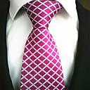 abordables Otras Manicura Herramientas-De Moda Rosado Tejido Hombre Tie Bar-1 pieza