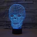 abordables Luces de Techo-1 pieza Luz nocturna 3D USB Regulable 5 V