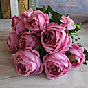 abordables Flores Artificiales-Flores Artificiales 1pcs Rama Estilo moderno Rosas Flor de Mesa