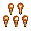 abordables Bombillas Incandescentes-5pcs 40W E26 / E27 A60(A19) Blanco Cálido 2300k Retro / Regulable / Decorativa Bombilla incandescente Vintage Edison 220-240V