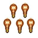 ieftine Incandescent-5pcs 40W E26 / E27 A60(A19) Alb Cald 2300k Retro / Intensitate Luminoasă Reglabilă / Decorativ Incandescent Vintage Edison bec 220-240V