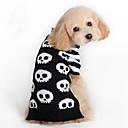 baratos Roupas para Cães-Gato Cachorro Súeters Roupas para Cães Caveiras Preto De Lã Ocasiões Especiais Para animais de estimação Homens Mulheres Fashion Dia Das