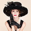 رخيصةأون قطع رأس-ريشة الأورجانزا فاسيناتورس قبعات خوذة الكلاسيكية نمط المؤنث