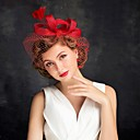 cheap Wedding Wraps-Tulle / Feather Fascinators with 1 Special Occasion Headpiece