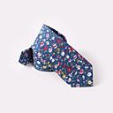 abordables Accesorios para Hombre-floral azul de algodón corbatas estrechas