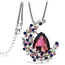 cheap Bracelets-Women's Crystal Pendant Necklace - Crystal Ladies, Double-layer, Fashion Purple, Blue Necklace Jewelry For Party, Daily, Casual, Work