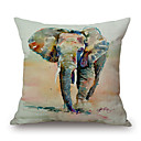 cheap Pillow Covers-pcs Cotton/Linen Pillow Cover, Animal Print Graphic Prints Novelty Casual Modern/Contemporary
