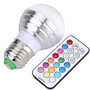 cheap LED Bulbs-YWXLIGHT® 400 lm E26 / E27 LED Globe Bulbs A50 4 LED Beads SMD Dimmable / Remote-Controlled / Decorative Cold White / RGB 220-240 V /