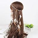 preiswerte Modische Ohrringe-Damen Feder Stoff Stirnband - Blume