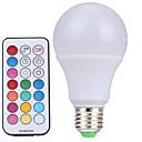 preiswerte Ablagen-YWXLIGHT® 10W 500lm E26 / E27 LED Kugelbirnen A60(A19) 12 LED-Perlen SMD Abblendbar Dekorativ Ferngesteuert Kühles Weiß RGB 85-265V