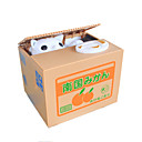 cheap Novelty Toys-Piggy Bank Stealing Coin Cat Bank Novelty Toy Square Plastic Khaki For Kids