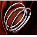 baratos Anéis-Mulheres Bracelete - Prata de Lei Fashion Pulseiras Prata Para