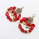 preiswerte Modische Ohrringe-Damen Perlenbesetzt Tropfen-Ohrringe / Ohrringe baumeln - Retro, Böhmische, Europäisch Orange / Rot / Grün Für Party / Alltag / Normal