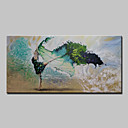 olcso Absztrakt festmények-Hang festett olajfestmény Kézzel festett - Landscape Modern Kerettel / Nyújtott vászon