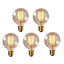 cheap Incandescent Bulbs-HRY 5pcs 40W E26 / E27 G95 Warm White 2300k Retro Dimmable Decorative Incandescent Vintage Edison Light Bulb 220-240V