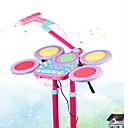 baratos Instrumentos de Brinquedo-Bateria Bateria / Jazz Drum Retratável Plástico Crianças Dom