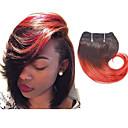 billige Ombre hairextensions-4 pakker Brasiliansk hår Bølget Ekte hår Nyanse Hårvever med menneskehår Hairextensions med menneskehår