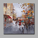 cheap Abstract Paintings-Oil Painting Hand Painted - Landscape Classic Modern Canvas