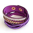ieftine Brățări-Pentru femei Bratari Wrap - Personalizat Brățări Mov / Maro / Roz Pentru Petrecere