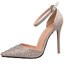 abordables Sandalias de Mujer-Mujer Zapatos Purpurina Primavera Verano Otoño Tacones Tacón Stiletto Purpurina para Casual Fiesta y Noche Negro Plata Dorado