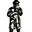 cheap Wedding Wraps-Men's Street chic Long Faux Fur Slim Fur Coat - Camouflage, Vintage Style / Long Sleeve