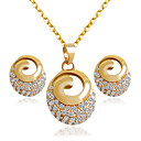 cheap Jewelry Sets-Women's Jewelry Set - Include Bridal Jewelry Sets Golden For Wedding / Party