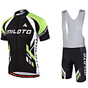 cheap Cycling Jerseys-Miloto Men's Short Sleeve Cycling Jersey with Bib Shorts Bike Bib Shorts / Jersey / Bib Tights, Breathable, Quick Dry, Sweat-wicking Polyester, Lycra Sports / Stretchy / SBS Zipper / Clothing Suit