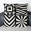 cheap Pillow Covers-pcs Cotton/Linen Pillow Cover, Geometric Casual