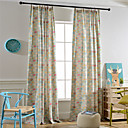 cheap Curtains Drapes-Rod Pocket Grommet Top Tab Top Double Pleat Pencil Pleat Two Panels Curtain Modern European Mediterranean Neoclassical Country, Print