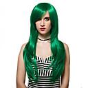 رخيصةأون باروكات تنكرية أنيمي-الاصطناعية الباروكات مستقيم شعر مستعار صناعي أخضر شعر مستعار للمرأة طويل دون غطاء أخضر