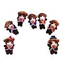 baratos Marionetes-Macaco Fantoches Fofinho Adorável Novidades Desenho Têxtil Felpudo Para Meninas Dom 7pcs