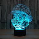 preiswerte Wand-Sticker-mario Touch dimmen 3d führte Nachtlicht 7colorful Dekoration Atmosphäre Lampe Neuheit Beleuchtung Licht