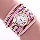 baratos Relógios de Pulseira-Mulheres Bracele Relógio / Relógio de Pulso / Couro Banda Flor / Boêmio / Fashion Preta / Branco / Azul