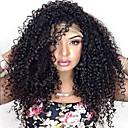 abordables Pelucas Sintéticas con Agarre-Pelucas sintéticas Afro / Kinky Curly Estilo Sin Tapa Peluca Naturaleza Negro Negro Pelo sintético Mujer Peluca afroamericana / Para mujeres de color Naturaleza Negro Peluca Larga Peluca de carnaval